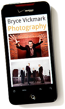 photography website phone version