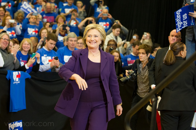 Hillary Clinton, a democratic candidate running for President of the United States, during a campaign stop at Nashua Community College., in Nashua, NH on Tuesday 2/2/16.